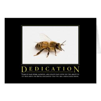 Cartão inspirador da paródia da dedicação