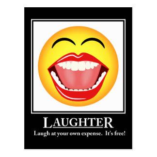 Cartão inspirador do riso do smiley face de LOL