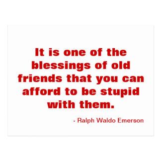 Cartão inspirador sobre a amizade