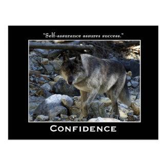 Cartão inspiradores do lobo cinzento
