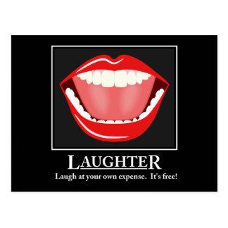 Cartão inspiradores do riso engraçado grande da cartão postal