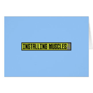 Cartão Instalando o exercício Zh1sq dos músculos