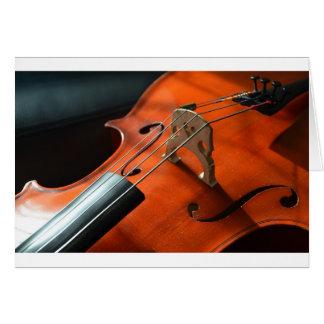 Cartão Instrumento amarrado cordas da madeira do