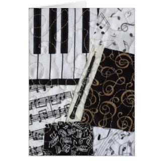 Cartão Instrumento musical dos sopros de Oboe