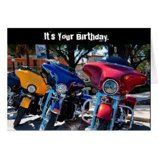 Cartão inteiro de Harley Hawg do aniversário