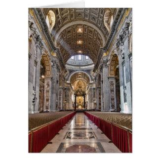 Cartão Interior da basílica de St Peter