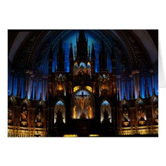 Cartão Interior de Notre Dame de Montreal