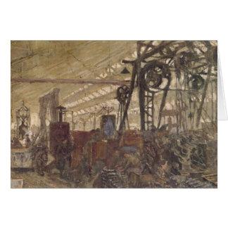 Cartão Interior de uma fábrica das munições, 1916-17
