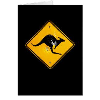 Cartão Interior do sinal de estrada do canguru