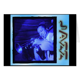 Cartão Interlúdios musicais: Jazz do vintage