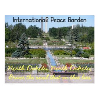 Cartão internacional de North Dakota do jardim da