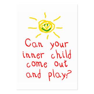 Cartão interno do divertimento da criança cartão de visita grande