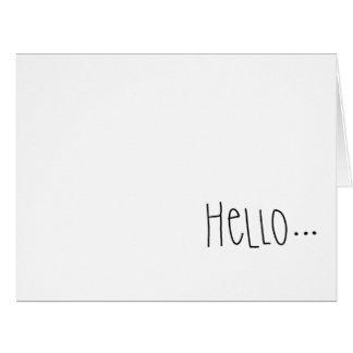 Cartão interno do vazio simples do olá!