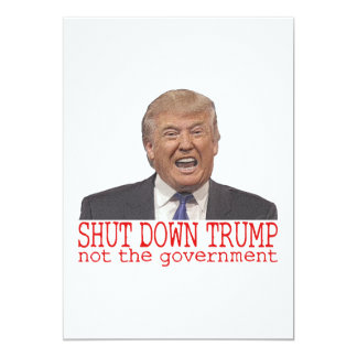 Cartão Interrompa o trunfo, não o governo