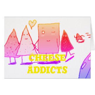 Cartão Intimação dos viciados do queijo