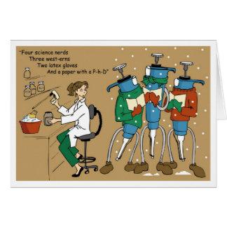 Cartão Introduza com pipeta Carolers