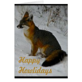 Cartão invernal dos animais selvagens