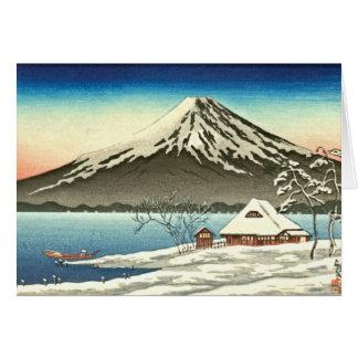 Cartão Inverno 1890 de Monte Fuji