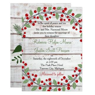 Cartão Inverno do encanto do feriado/convite casamento do