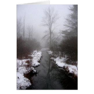 Cartão Inverno do monte do lago, NY