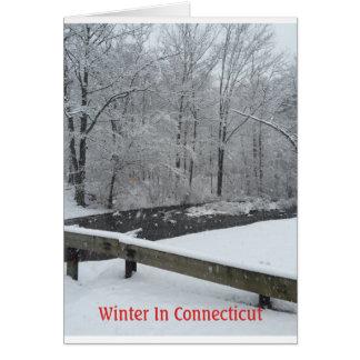 Cartão Inverno em Connecticut