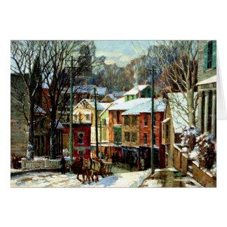 Cartão Inverno em Gloucester, Massachusetts