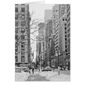 Cartão Inverno em New York Notecard