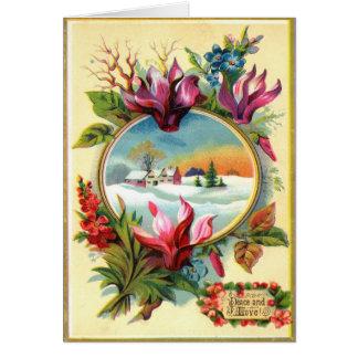 Cartão Inverno floral