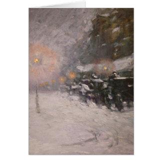 Cartão Inverno, meia-noite - Childe Hassam