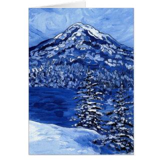 Cartão Inverno nevado