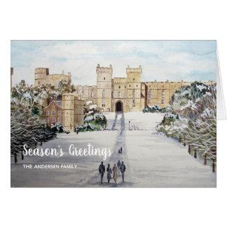 Cartão Inverno no Natal do castelo de Windsor