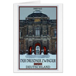 Cartão Inverno P de Dresden - de palácio de Zwinger