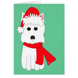 Cartão Inverno Westie