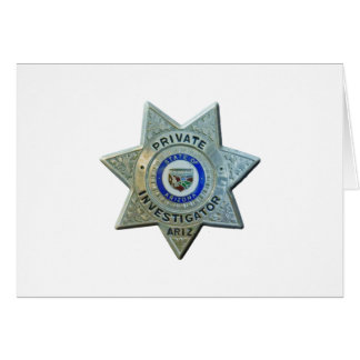 Cartão Investigador privado da arizona