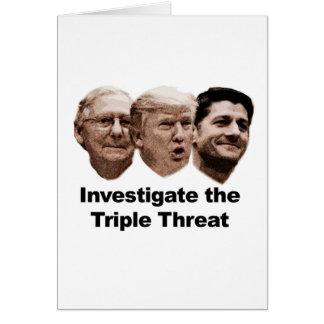 Cartão Investigue a ameaça tripla