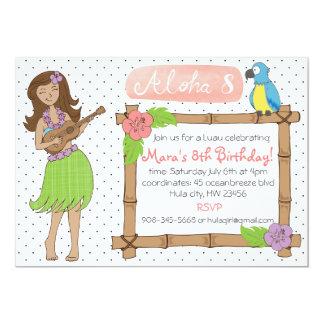 Cartão Inviation da festa de aniversário de Luau