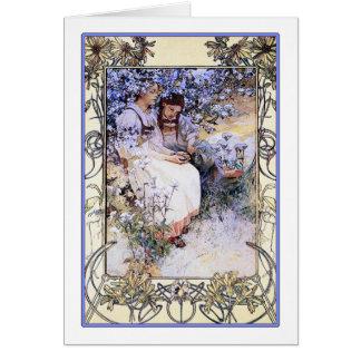 Cartão /Invitation da arte: Mucha: Os Beatitudes