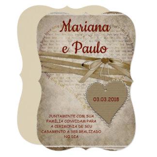 Cartão Invite for wedding