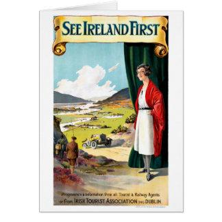 Cartão Ireland restaurou o poster das viagens vintage