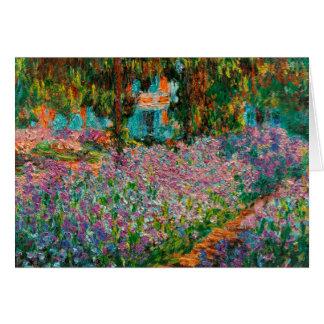 Cartão Íris no jardim de Monets em Giverny por Claude