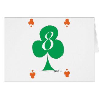 Cartão Irlandês afortunado 8 dos clubes, fernandes tony