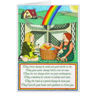 Cartão irlandês da amizade do desejo da amizade