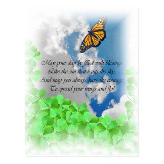 Cartão irlandês da bênção