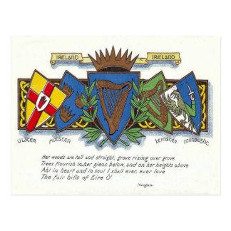 Cartão irlandês das províncias