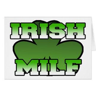 Cartão irlandês de MILF
