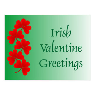 Cartão irlandês dos cumprimentos dos namorados