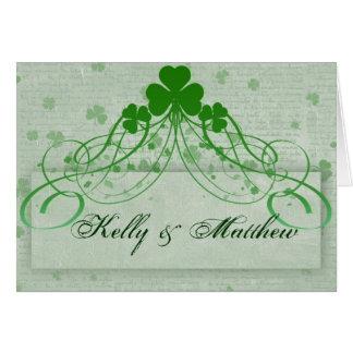 Cartão Irlandês elegante