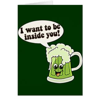 Cartão Irlandês engraçado do Dia de São Patrício