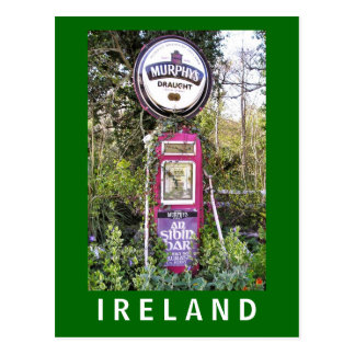 Cartão irlandês velho da bomba de gasolina de