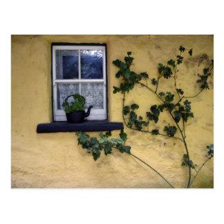 cartão irlandês velho da janela